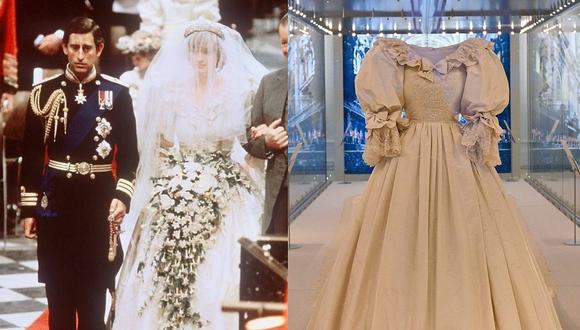Diana de Gales es considerada icono de estilo y su vestido de novia causó gran impacto en 1981. (Foto: AFP / Composición)