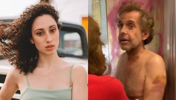 """Ben Haim fue retenida por el sujeto, quien le increpa por """"entrar a su casa"""" e incluso la acusa de querer robar. Es ahí que la joven actriz empieza a grabar lo ocurrido."""