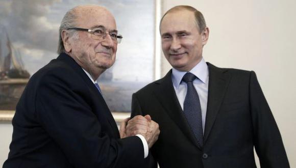 Putin dice que Joseph Blatter merece el Nobel de la Paz