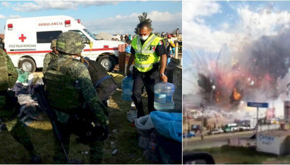 México: Mujer entró en trabajo de parto durante explosión