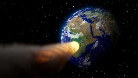 Representación artística de un asteroide acercándose a la Tierra. (Foto: Pixabay)