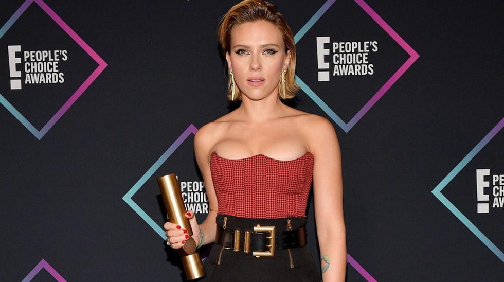 Scarlett Johansson ganó en los People's Choice Awards 2018. (Foto: Agencias)
