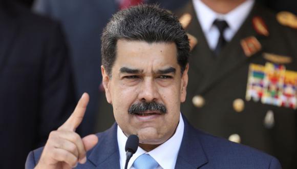 El presidente de Venezuela, Nicolás Maduro, habla durante una conferencia de prensa en el Palacio de Miraflores en Caracas. (REUTERS/Manaure Quintero).