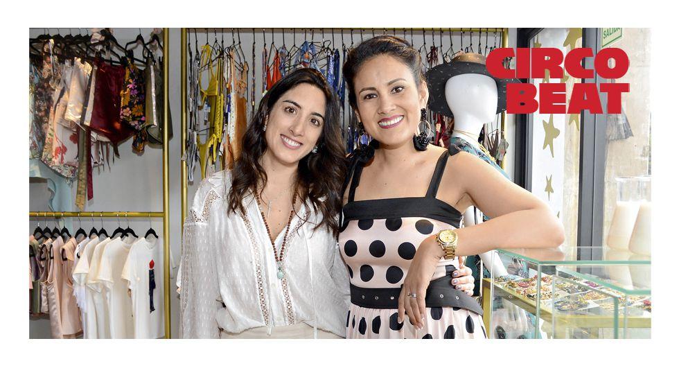 Jackie Vásquez y Arantza Bentín en el lanzamiento de Sweet Morgana en Brina Universe. Miraflores.