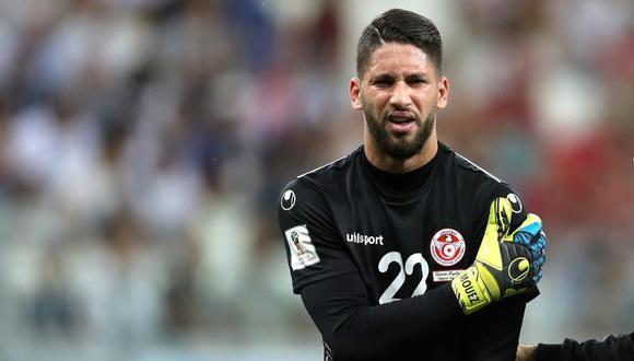 Túnez tiene su primera baja en lo que le queda de Rusia 2018: el guardameta Mouez Hassen fue diagnosticado con una luxación en su hombro izquierdo. (Foto: AFP)
