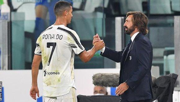 Pirlo se mostró incómodo con 'egoísmo' de Cristiano Ronaldo a pesar del triunfo de su equipo.