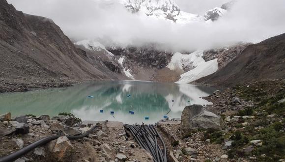 Inaigem difundió imágenes de la avalancha registrada en la laguna Palcacocha. (Foto: COER Áncash)