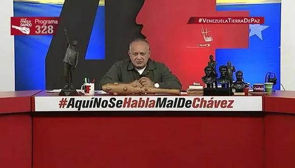 El número dos del chavismo, Diosdado Cabello, se refirió a las protestas en Cuba. (Captura de YouTube).