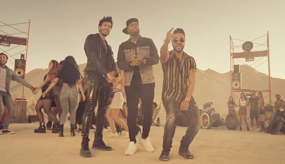 """Luis Fonsi, Sebastián Yatra y Nicky Jam estrenaron su nuevo tema """"Date la vuelta"""". (Foto: Captura)"""