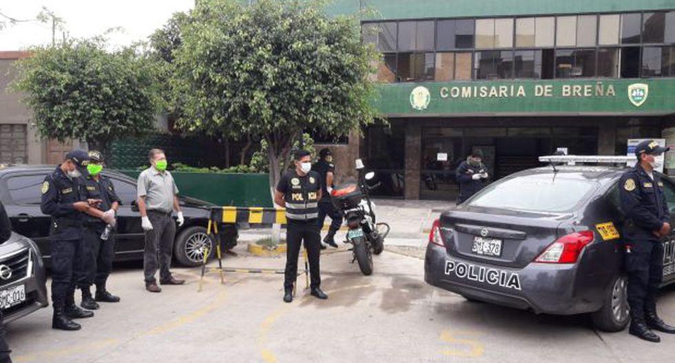 Policías de la Comisaría de Breña se niegan a patrullar las calles. (Foto: Alonso Chero/El Comercio)