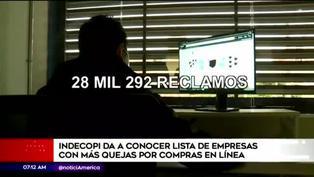 Indecopi da a conocer la lista de empresas con más quejas por compras en línea
