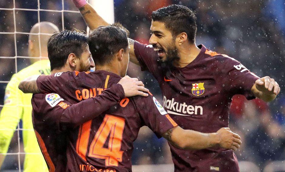 Barcelona: Lionel Messi marcó un hat-trick ante el Deportivo La Coruña. (Foto: AFP)