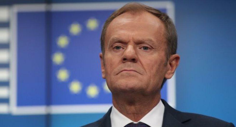 """Donald Tusk, presidente del Consejo Europeo, insinuó que cancelar Brexit es """"la única solución positiva"""". Foto: Getty images, vía BBC Mundo"""