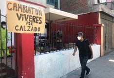 Arequipa: fabricantes de calzados se vieron obligados a intercambiar sus productos por alimentos