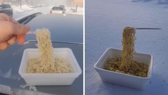 Muchas personas aprovecharon las bajas temperaturas para grabar singulares videos. (Foto: captura del video recopilatorio de Russia Today | YouTube | @vavan_news | Instagram)