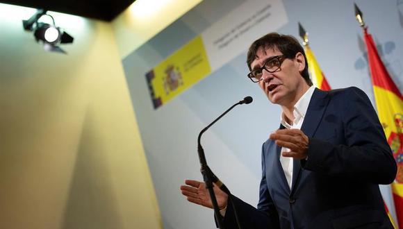 El ministro de Sanidad de España, Salvador Illa, instó a las autoridades de Madrid a endurecer las restricciones para frenar la nueva ola de coronavirus. (EFE/ Enric Fontcuberta).