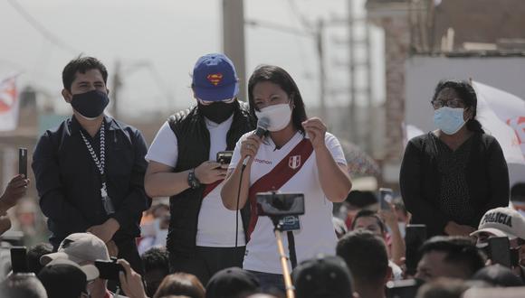 La candidata Keiko Fujimori indicó que esperará la decisión del juez. (Foto: Leandro Britto / @photo.gec)