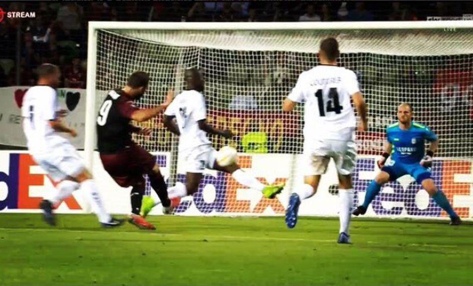Milán se midió ante Dudelange por la jornada inaugural de la Europa League. Gonzalo Higuaín fue el encargado de adelantar a los suyos en el marcador (Foto: captura de pantalla)