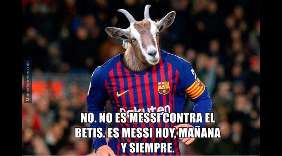 Lionel Messi marcó otro triplete con el Barcelona y los memes se rinden a su calidad. (Foto: Facebook)