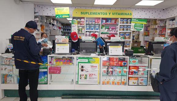 Las autoridades exhortaron a los propietarios de las boticas y farmacias a abstenerse de incurrir delitos de especulación. (Foto: Ministerio Público)