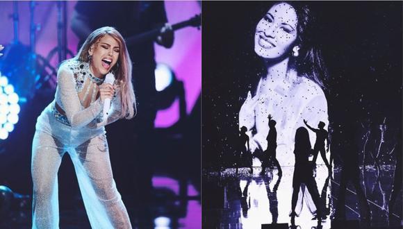 """Danna Paola cautivó con su interpretación de """"Como una flor"""" en homenaje a Selena Quintanilla (Foto: @premiosjuventud)"""