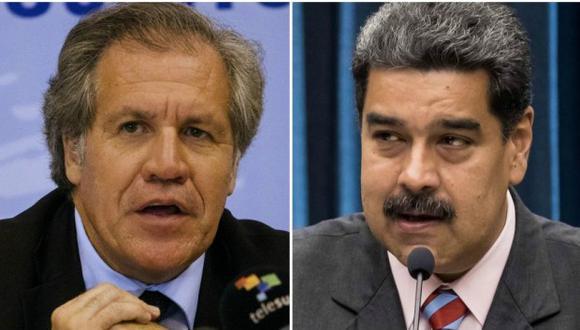 El secretario general de la Organización de Estados Americanos (OEA), Luis Almagro, y el presidente de Venezuela, Nicolás Maduro. (Foto: AFP / EFE)