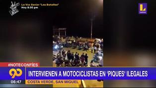 Costa Verde: Intervienen a motociclistas en 'piques' ilegales