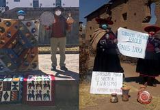 Cusco: artesanos piden al Gobierno mayor atención a su sector y que lo declare en emergencia