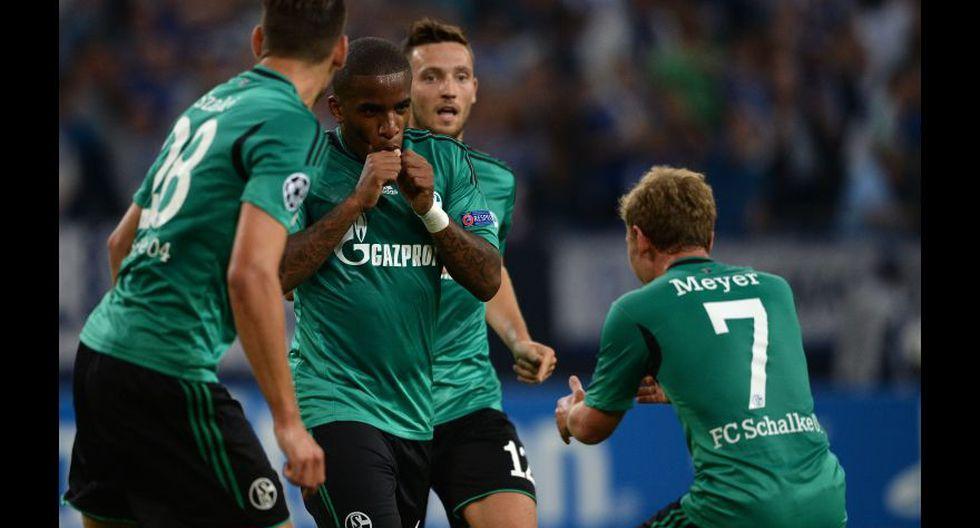 Jefferson Farfán anotó un total de seis goles en Champions League con la camiseta del Schalke 04.  (Foto: AFP)