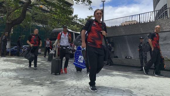 Melgar ya está en Venezuela para medirse a Caracas por Copa Libertadores. (Foto: @MelgarOficial)