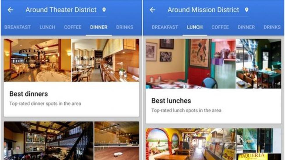 Google Maps rediseña servicio de recomendaciones para celulares - 3
