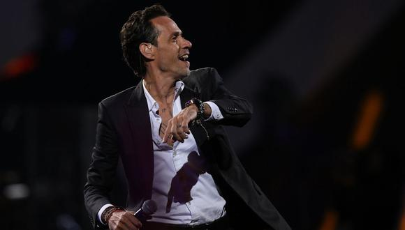 Marc Anthony se disculpa por no ofrecer concierto por fallo técnica. (Foto: AFP).