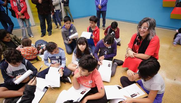 En el marco del Día Internacional de los Museos, el Ministerio de Cultura organizó un taller para incentivar el arte en los niños (Foto: Ministerio de Cultura).