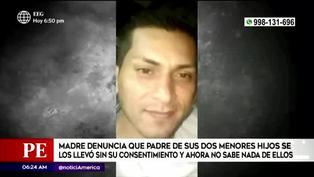 Mujer denuncia a expareja por llevarse a sus hijos sin su consentimiento