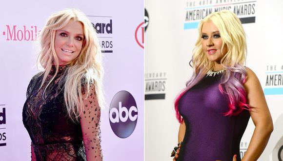 Britney Spears y Christina Aguilera. (Foto: Agencias)