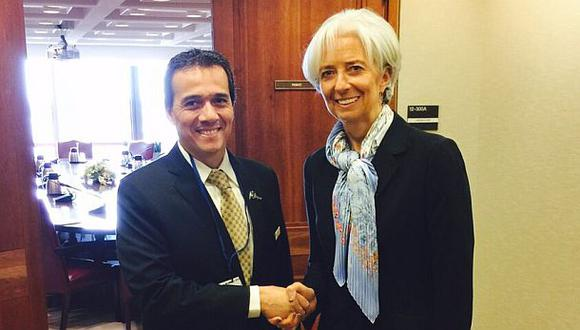 Alonso Segura se reunió con Christine Lagarde en Washington