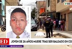 Joven fue asesinado a balazos en una calle de Comas