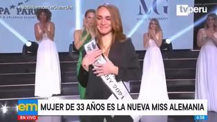 Mujer de 33 años, con dos hijos, es elegida como la nueva Miss Alemania 2021