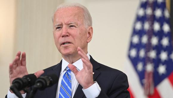 El gobierno del presidente de Estados Unidos, Joe Biden, felicitó a Pedro Castillo por su elección como presidente del Perú. (SAUL LOEB / AFP).