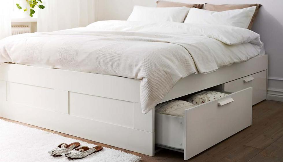 Elige elementos de color blanco, para lograr una sensación de amplitud. (Foto de Ikea)
