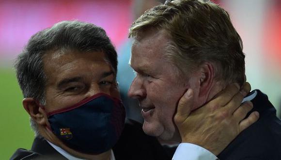 Barcelona respetará contrato y Koeman seguirá en el banquillo azulgrana por una temporada más. (Foto: AFP)