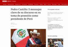 Así informó la prensa internacional sobre la toma de mando y primer mensaje del presidente Pedro Castillo