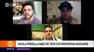 Nicola Porcella se confiesa con prensa mexicana