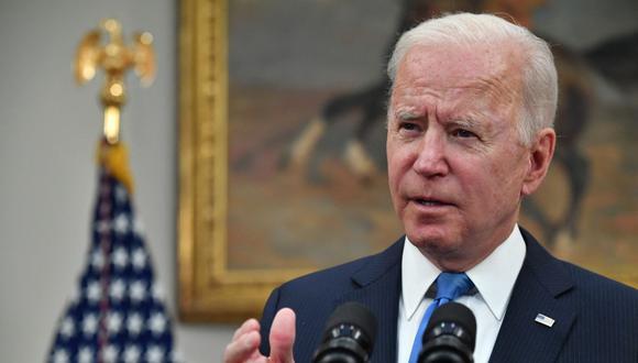 El presidente de Estados Unidos, Joe Bidenm no considera excesiva la reacción de Israel frente a los palestinos, que deja 87 muertos en Gaza. (Nicholas Kamm / AFP).