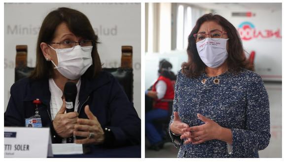 Pilar Mazzetti y Violeta Bermúdez fueron citadas por el Congreso para informar sobre medidas ante segunda ola por coronavirus. (Foto: GEC/Andina)