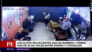 Delincuentes ingresan a barbería y se llevan más de 10 mil soles entre utensilios y dinero