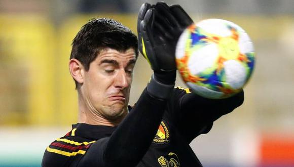 Thibaut Courtois, portero de la selección belga. (Foto: Reuters)