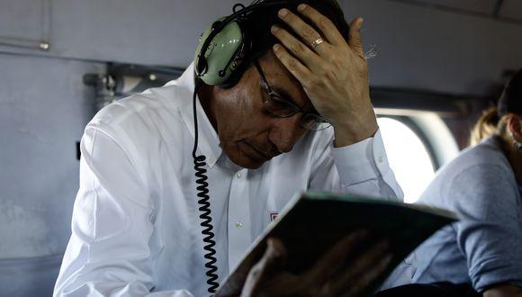 Complicado. El presidente Martín Vizcarra ha sido cuestionado en las últimas semanas por contrataciones vinculadas a personas de su entorno. Ahora, se menciona a su cuñado Fredy Herrera (Foto: Presidencia)
