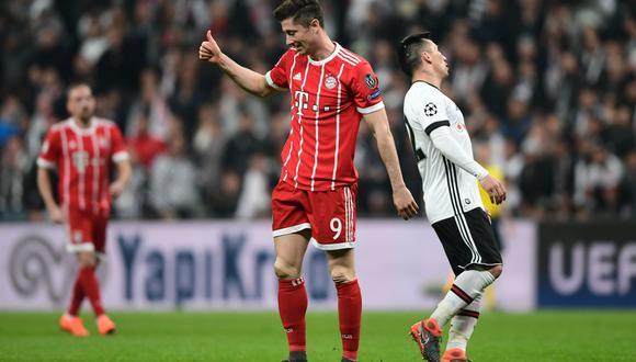 Bayern Múnich sigue con firmeza su camino en la Champions League. Superó tranquilamente a Besiktas en los octavos de final. En la ida ganó 5-0 y en la vuelta concretó un 3-1. (Foto: AFP)