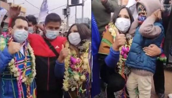 Candidatos insisten en congregar simpatizantes, pese a restricciones por la pandemia (Foto: Captura de TV)